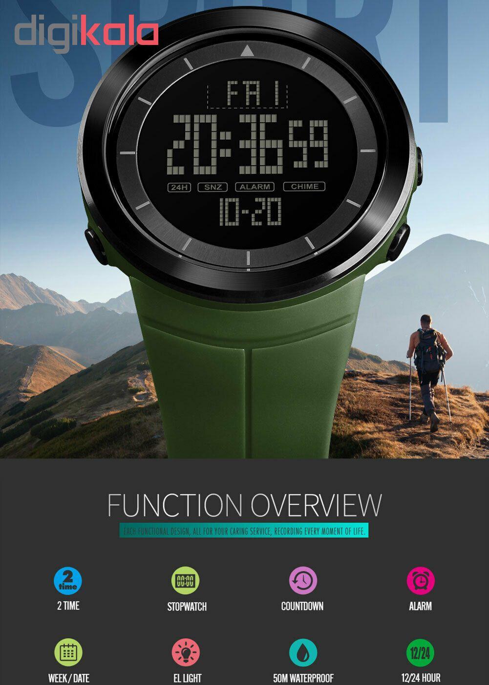 خرید ساعت مچی دیجیتال مردانه اسکمی مدل 1402army