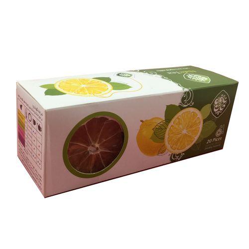 دمنوش لیمو حلقه  نافه بسته 20 عددی