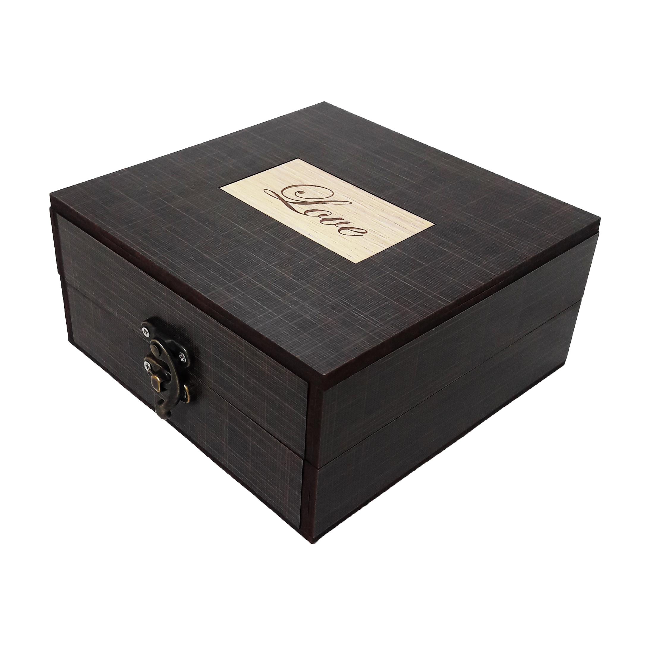 جعبه هدیه چوبی کادو آیهان باکس مدل 114