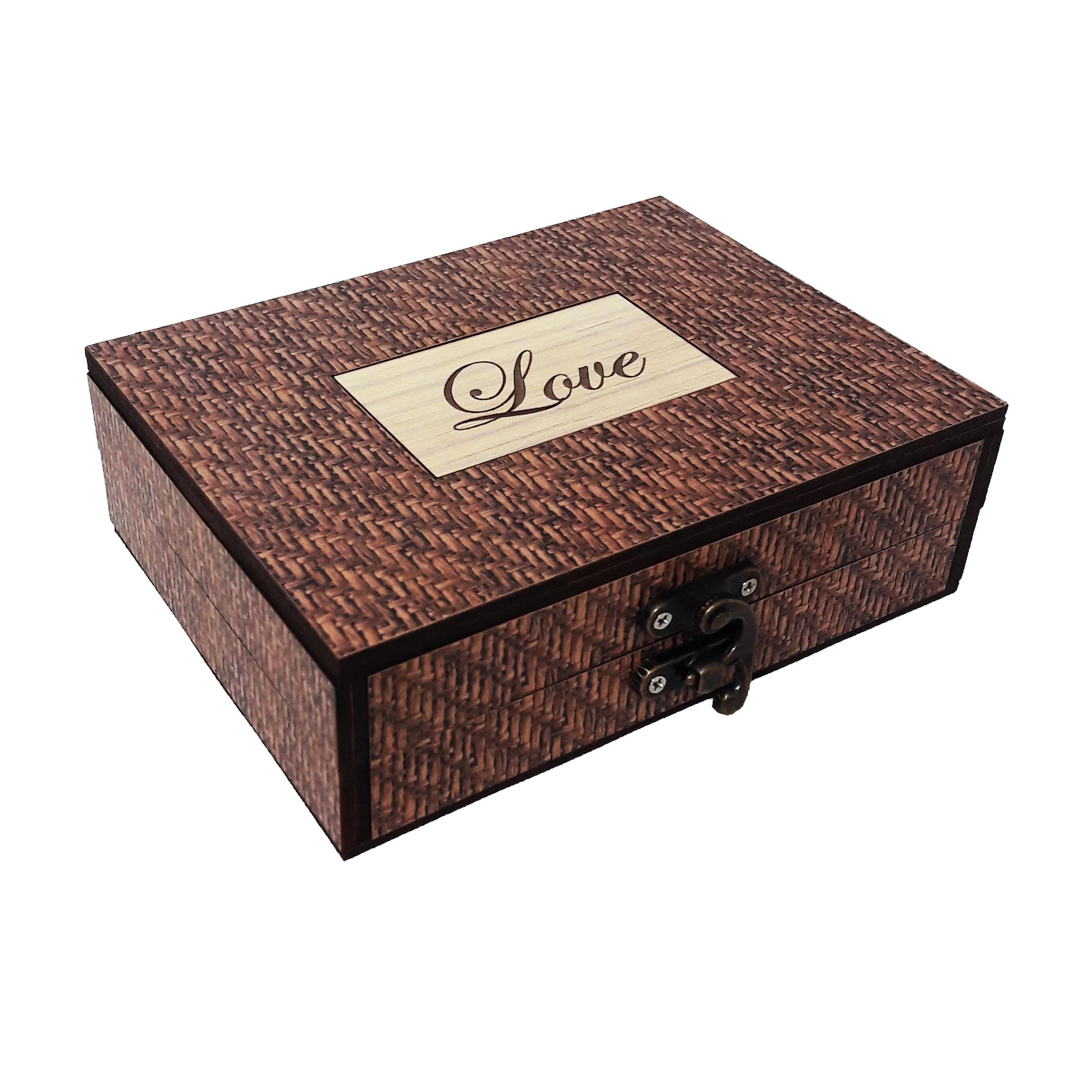 جعبه هدیه چوبی کادو آیهان باکس مدل 116