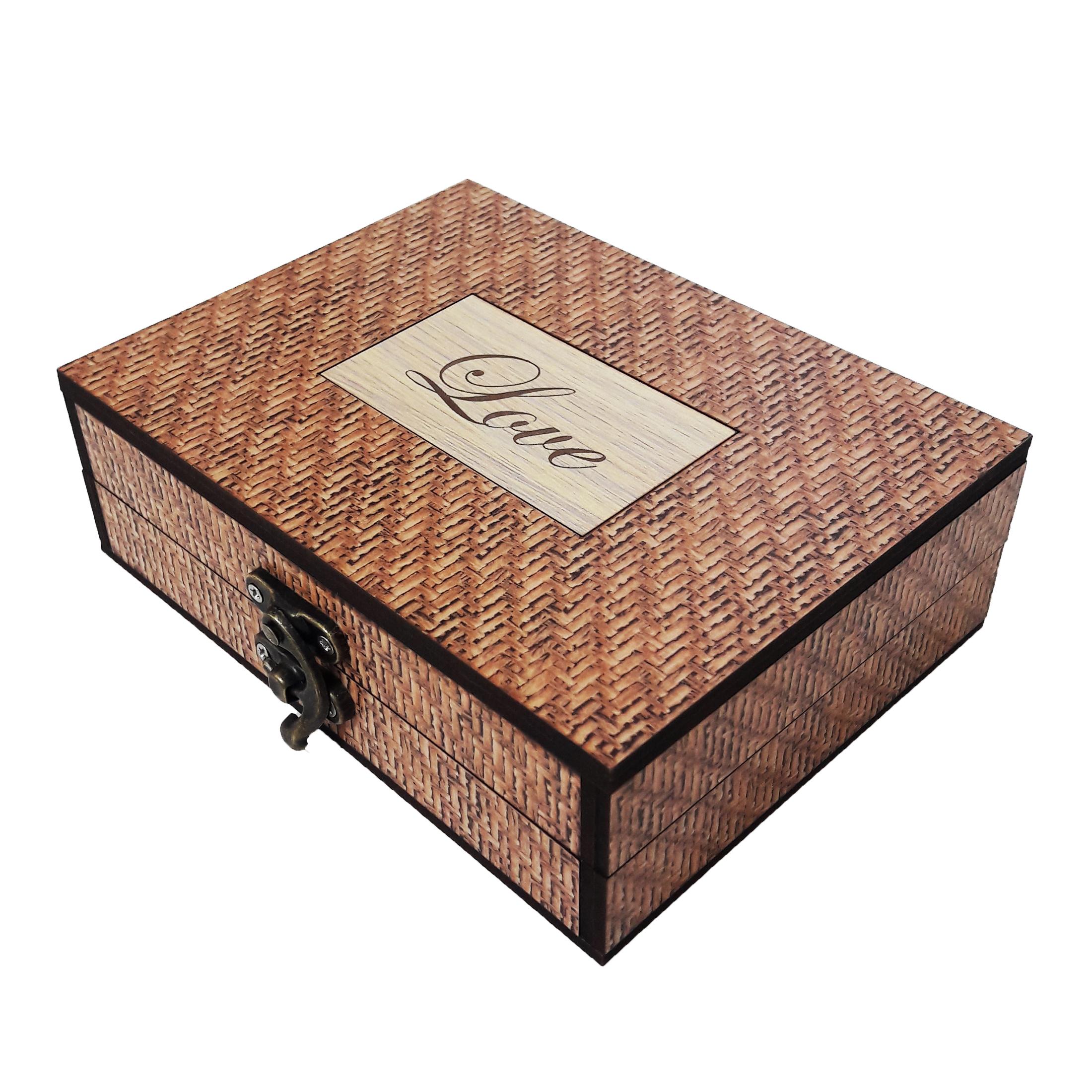 جعبه هدیه چوبی کادو آیهان باکس مدل 118