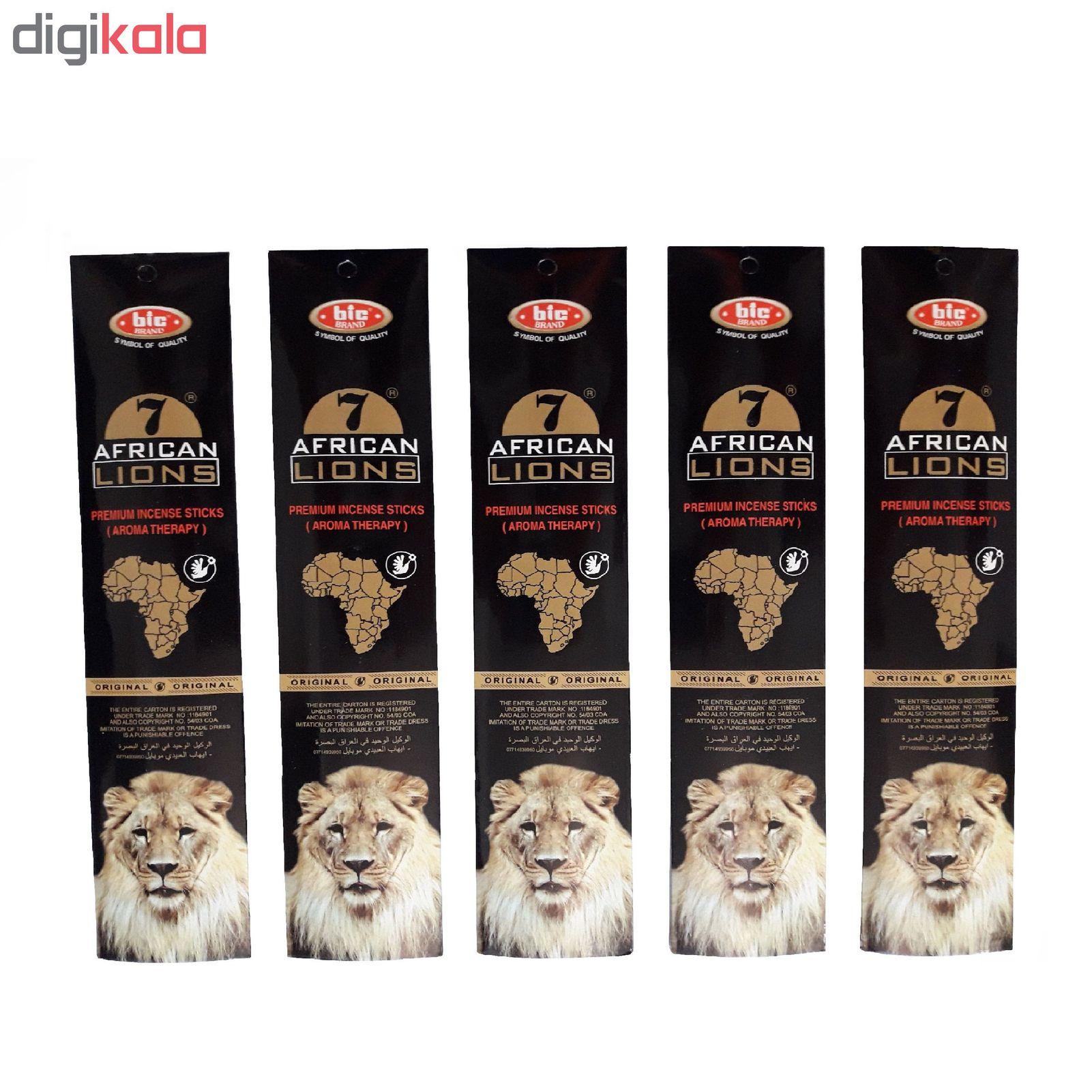 عود خوشبو کننده بیک مدل african lions بسته 5 عددی main 1 1