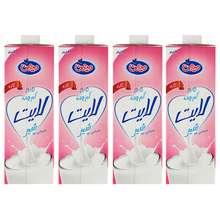 شیر کم چرب میهن حجم 1 لیتر بسته 4 عددی