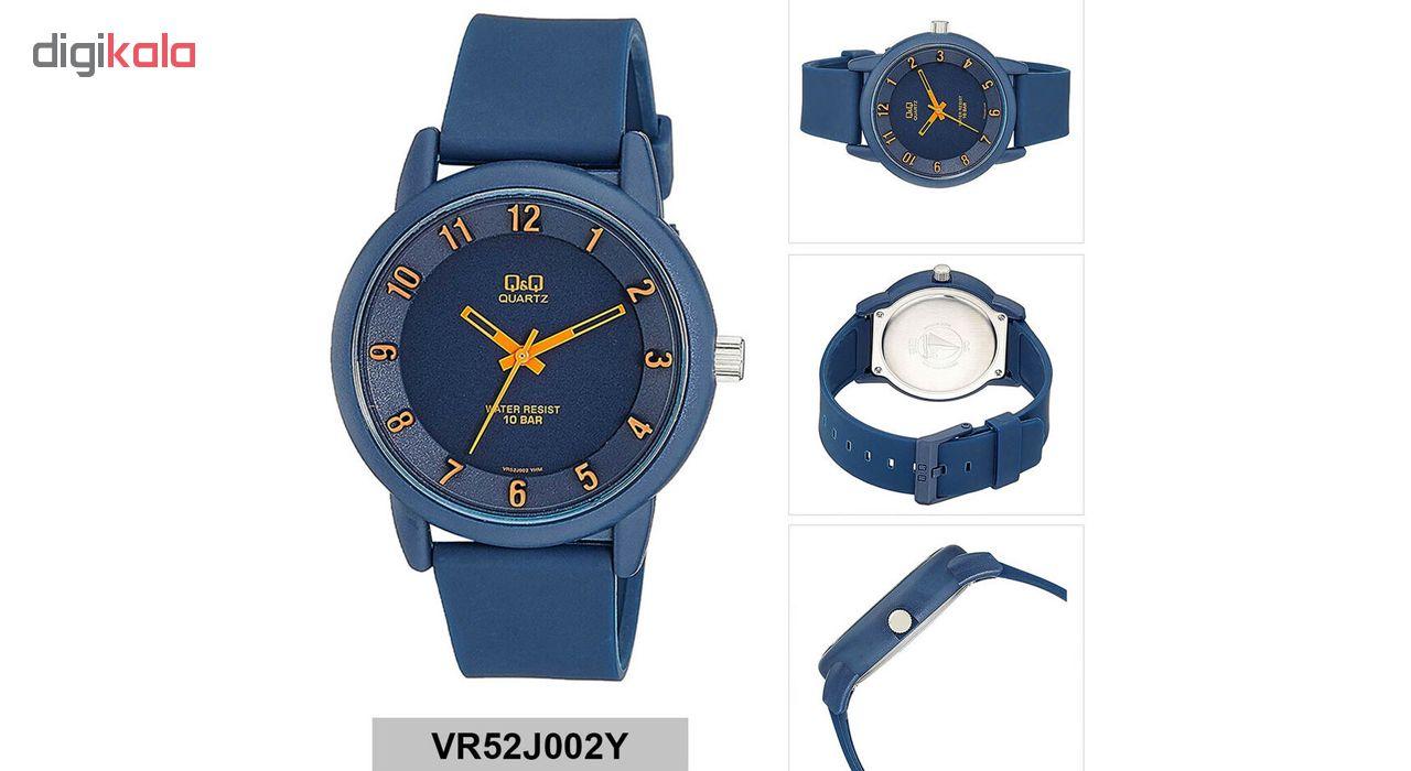 ساعت مچی عقربه ای کیو اند کیو مدل vr52j002y  به همراه دستمال مخصوص برند کلین واچ