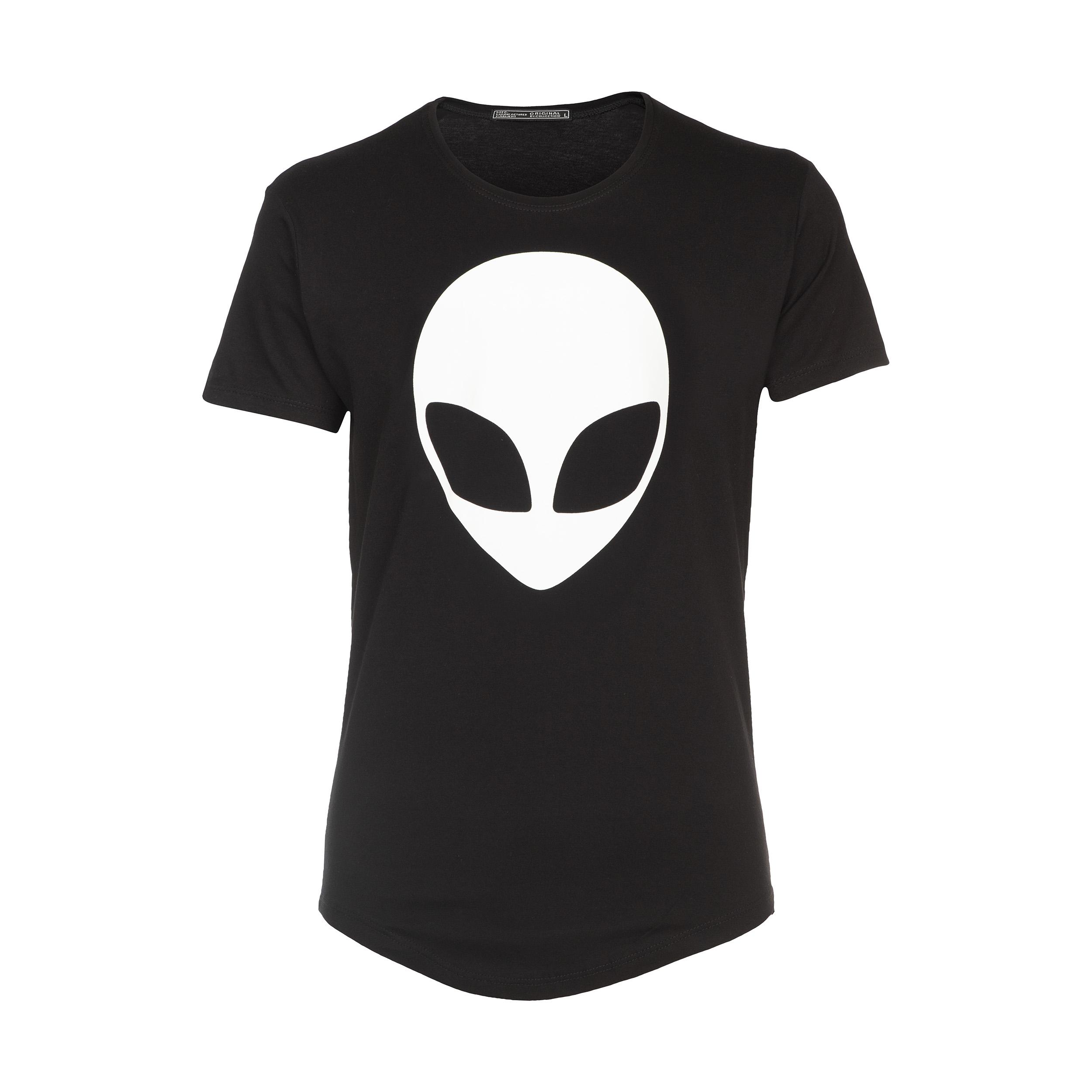 تی شرت آستین کوتاه مردانه لانگ مدل Lb