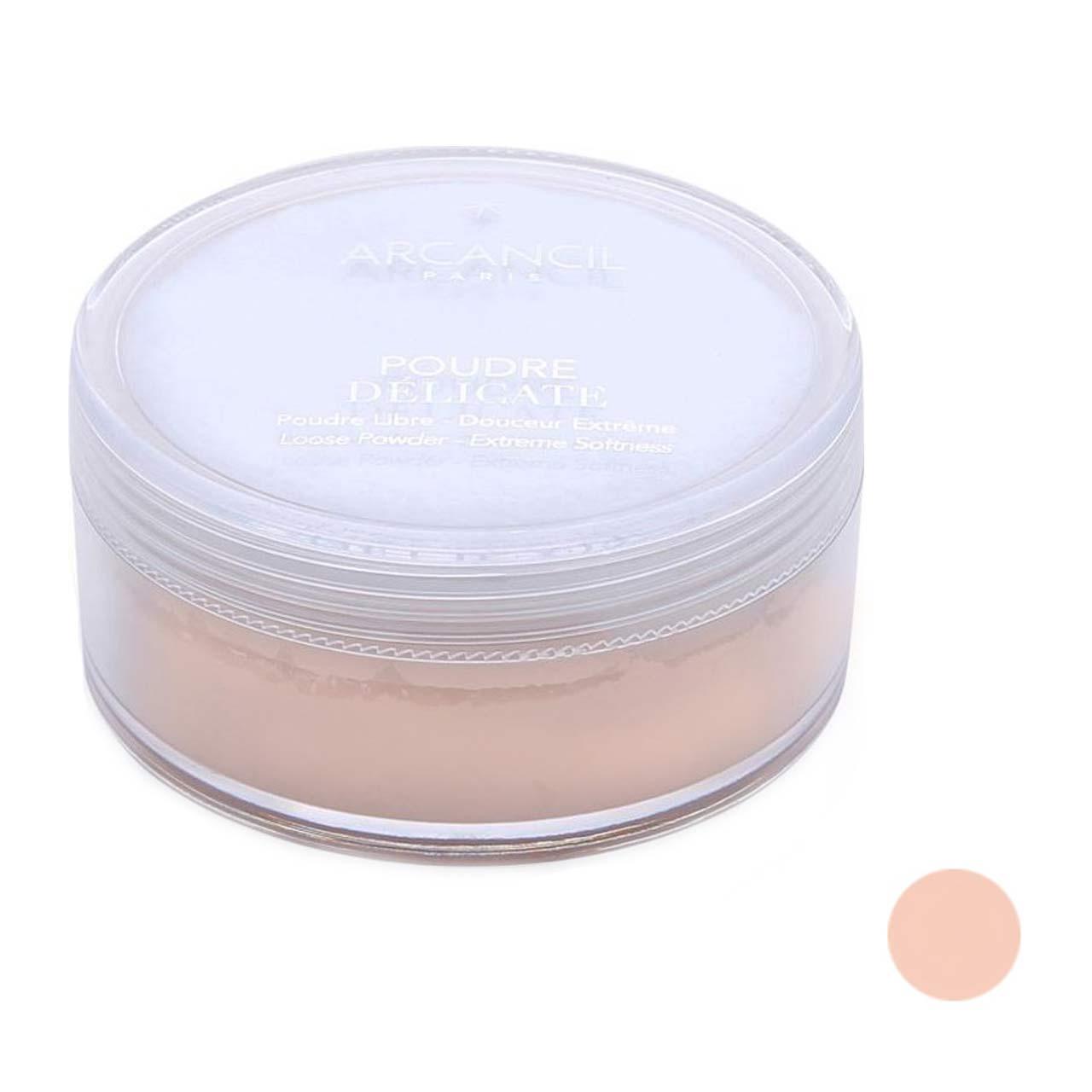 قیمت پودر تثبیت کننده آرایش آرکانسیل مدل poudre delicate شماره 003