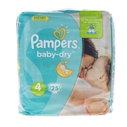 پوشک پمپرز مدل New Baby Dry سایز 4 بسته 25 عددی