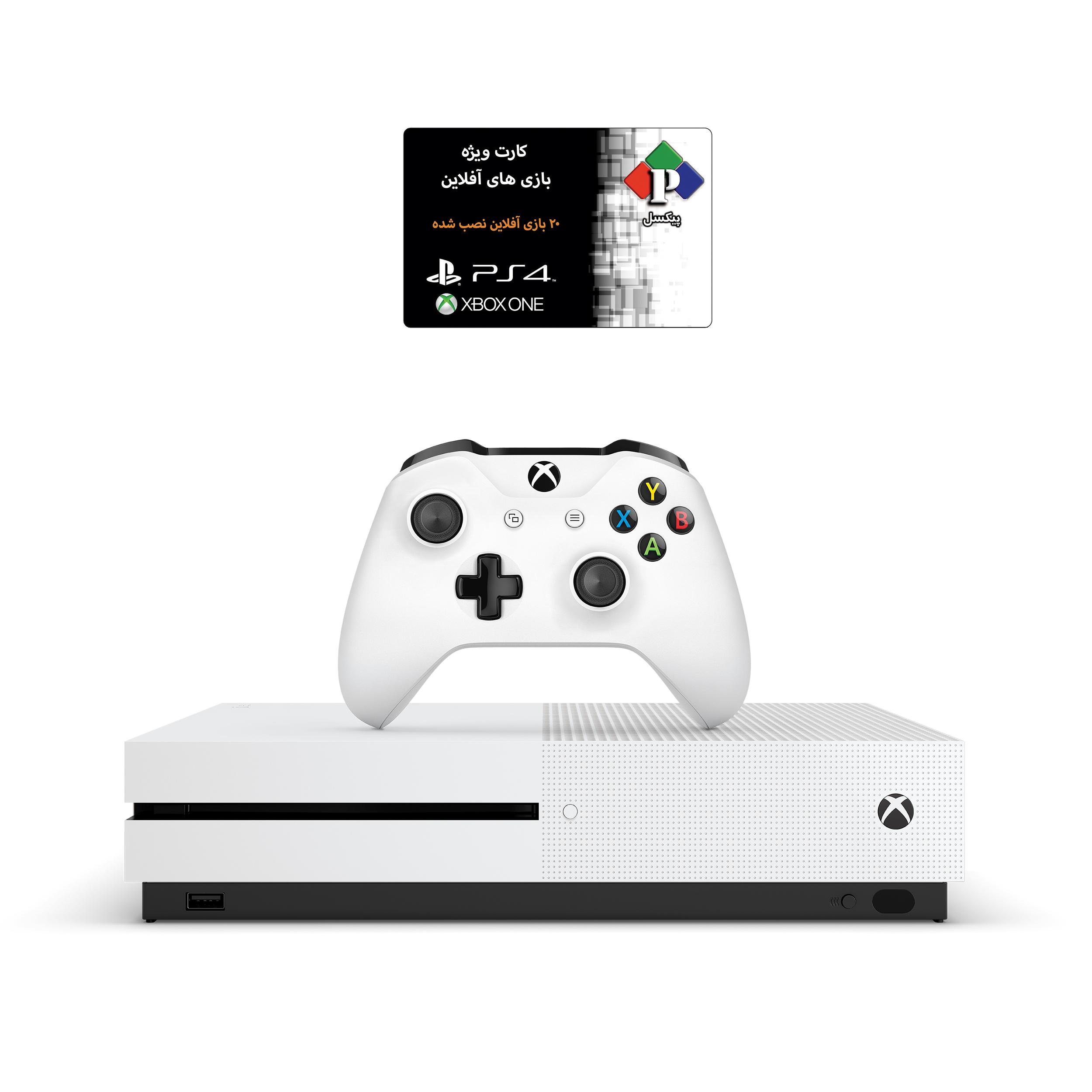 کنسول بازی مایکروسافت مدل Xbox One S ظرفیت 1 ترابایت به همراه ۲۰ عدد بازی