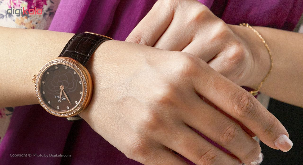 ساعت مچی عقربه ای زنانه روینا مدل 51172-L4SBR