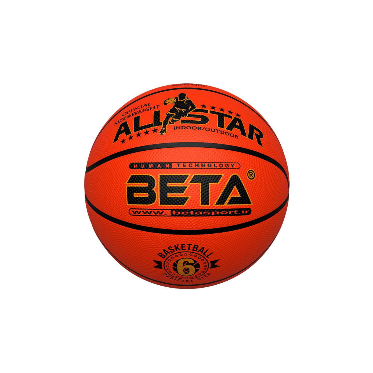 توپ بسکتبال بتا مدل PBR6 طرح Champion سایز 6 سایز 6