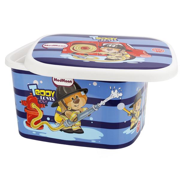 جعبه اسباب بازی کودک مدمان طرح خرس آتش نشان کد2