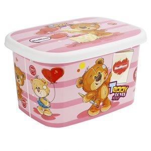 جعبه اسباب بازی کودک مدمان طرح خرس صورتی کد2