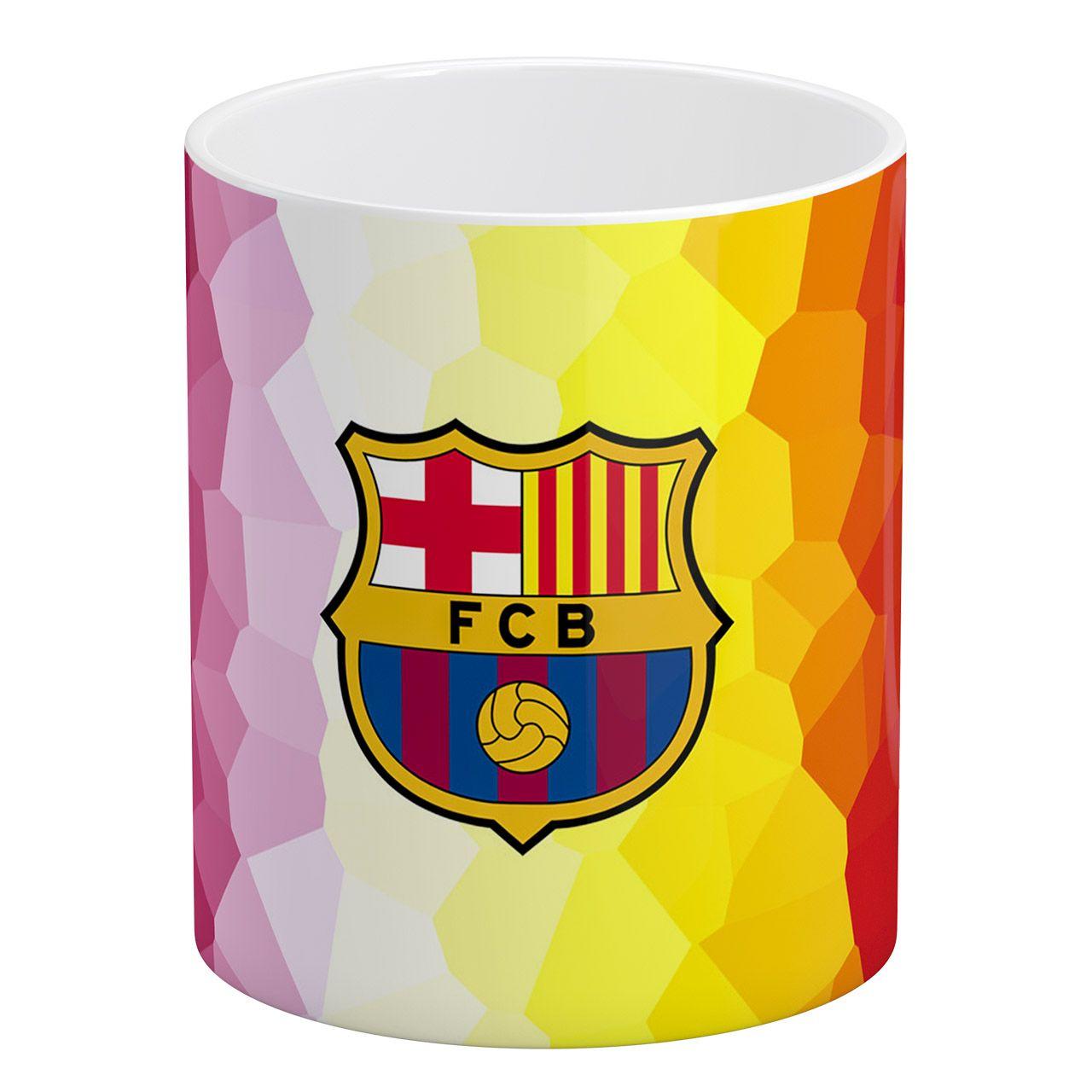 ماگ آبنبات رنگی طرح بارسلونا FC کد AR0678