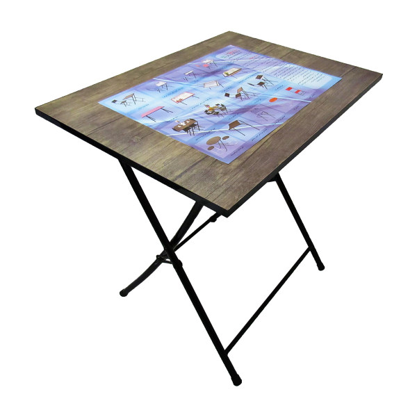 میز تحریر پایه بلند (ضدخش،تاشو،تنظیم شونده ارتفاع)