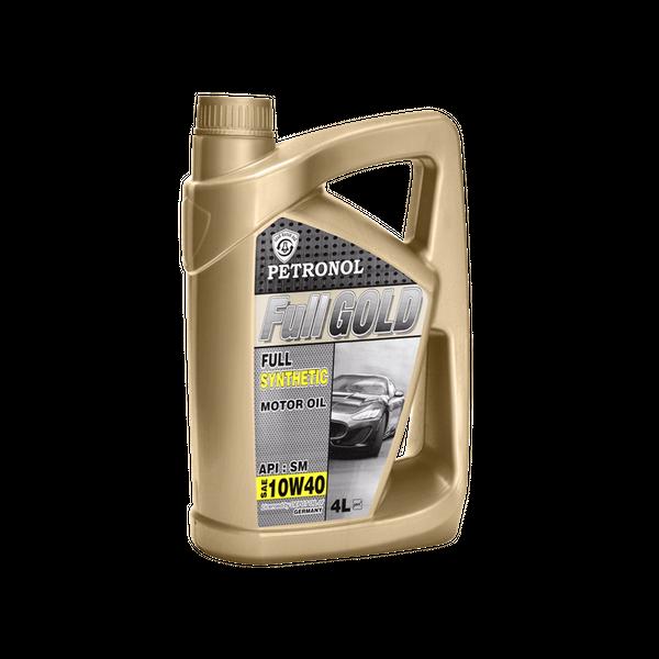 روغن موتور خودرو پترونول مدل  فول گلد سینتتیک SAE 10W-40 ظرفیت 4 لیتر