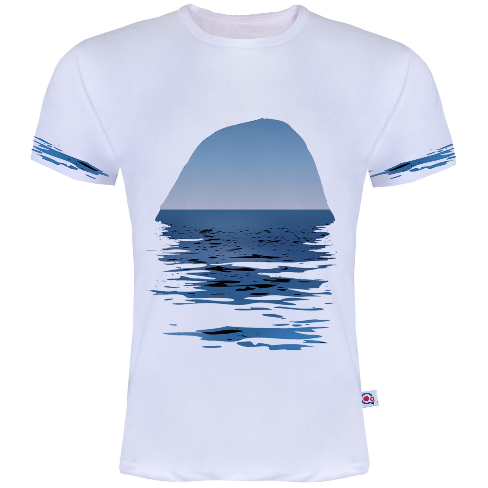 تیشرت مردانه آکو طرح Sea کد AS14