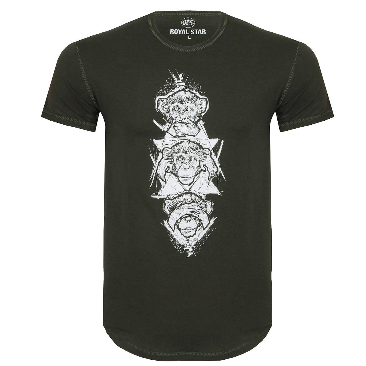 قیمت تیشرت مردانه رویال استار طرح میمون خردمند کد 347001231