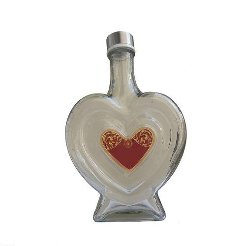 بطری شیشه ای طرح قلب کد 01