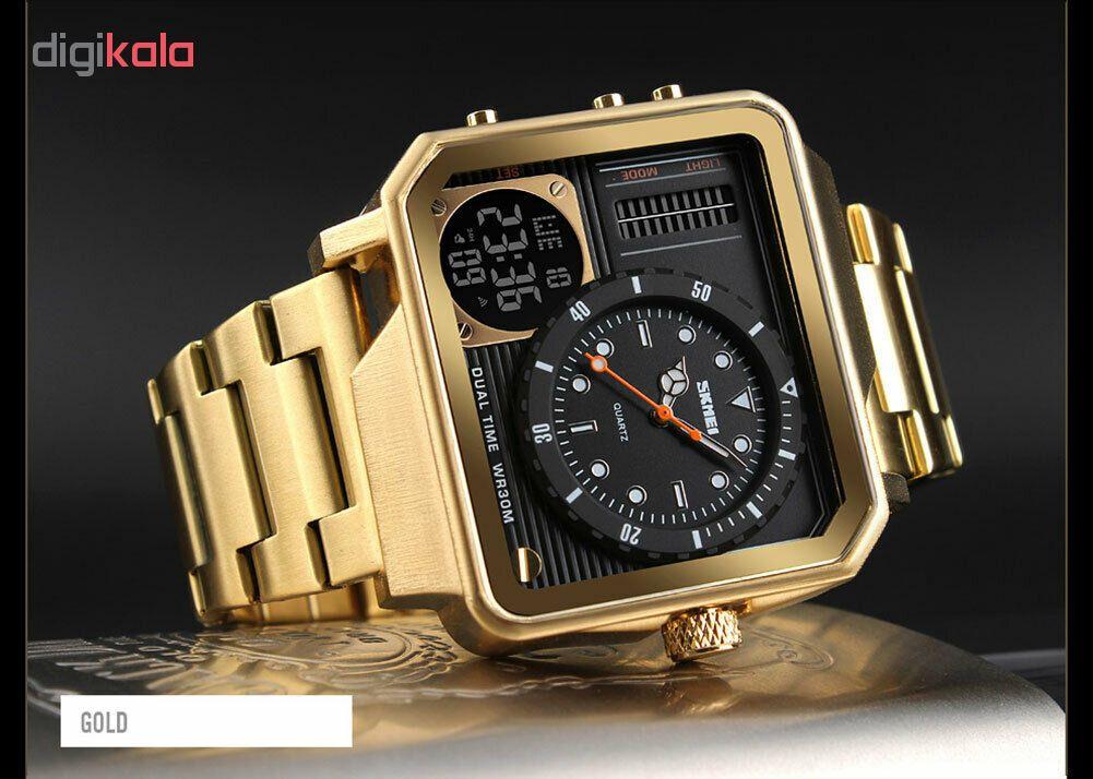 خرید ساعت مچی عقربه ای مردانه اسکمی مدل 1392G