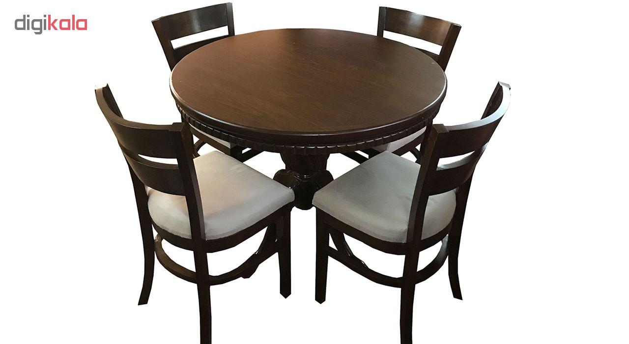 میز و صندلی ناهار خوری اسپرسان چوب مدل SM29