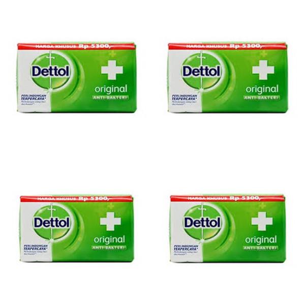 صابون ضد باکتری دتول کد 21005 وزن 105 گرم بسته 4 عددی