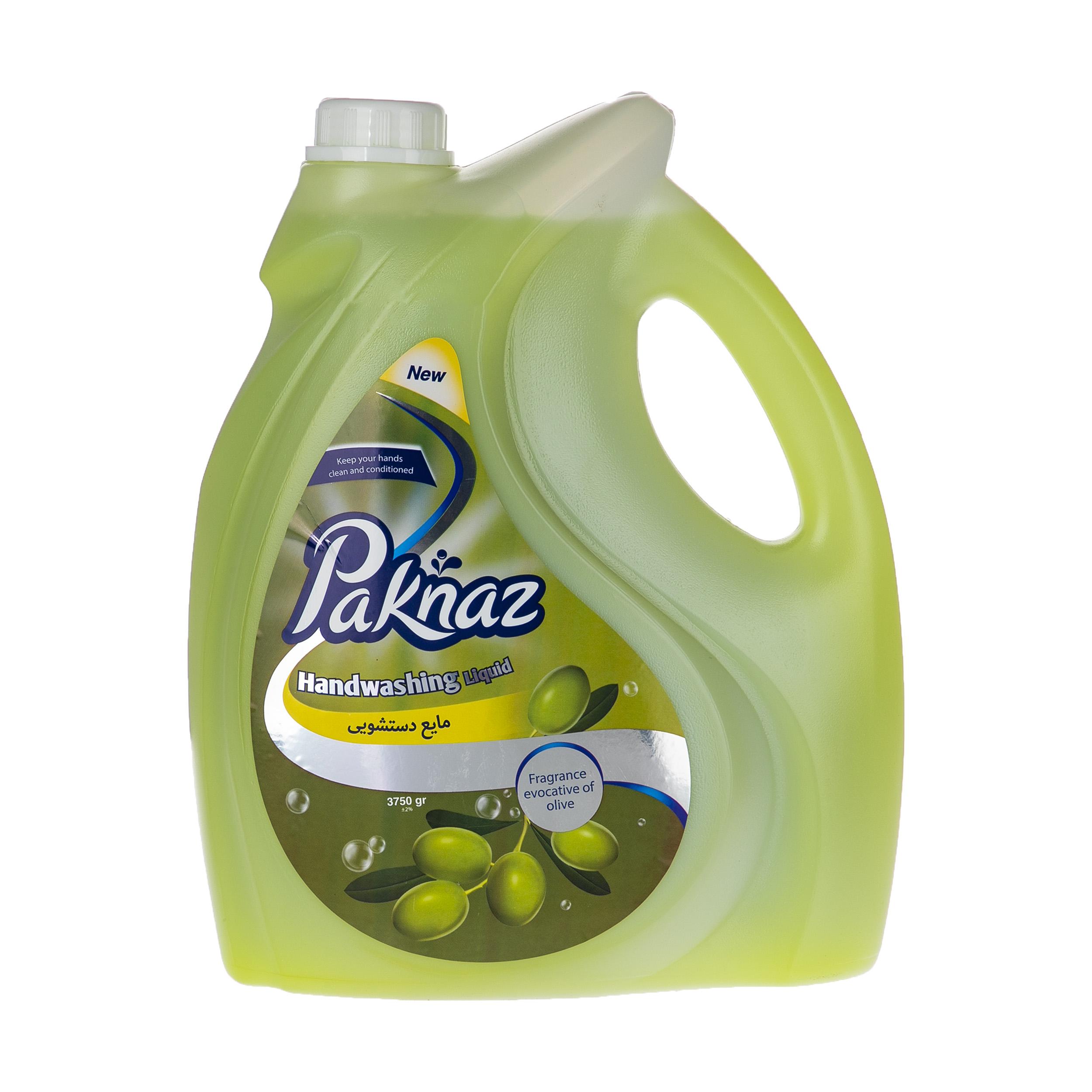 مایع دستشویی پاکناز مدل Olive حجم 3.75 لیتر