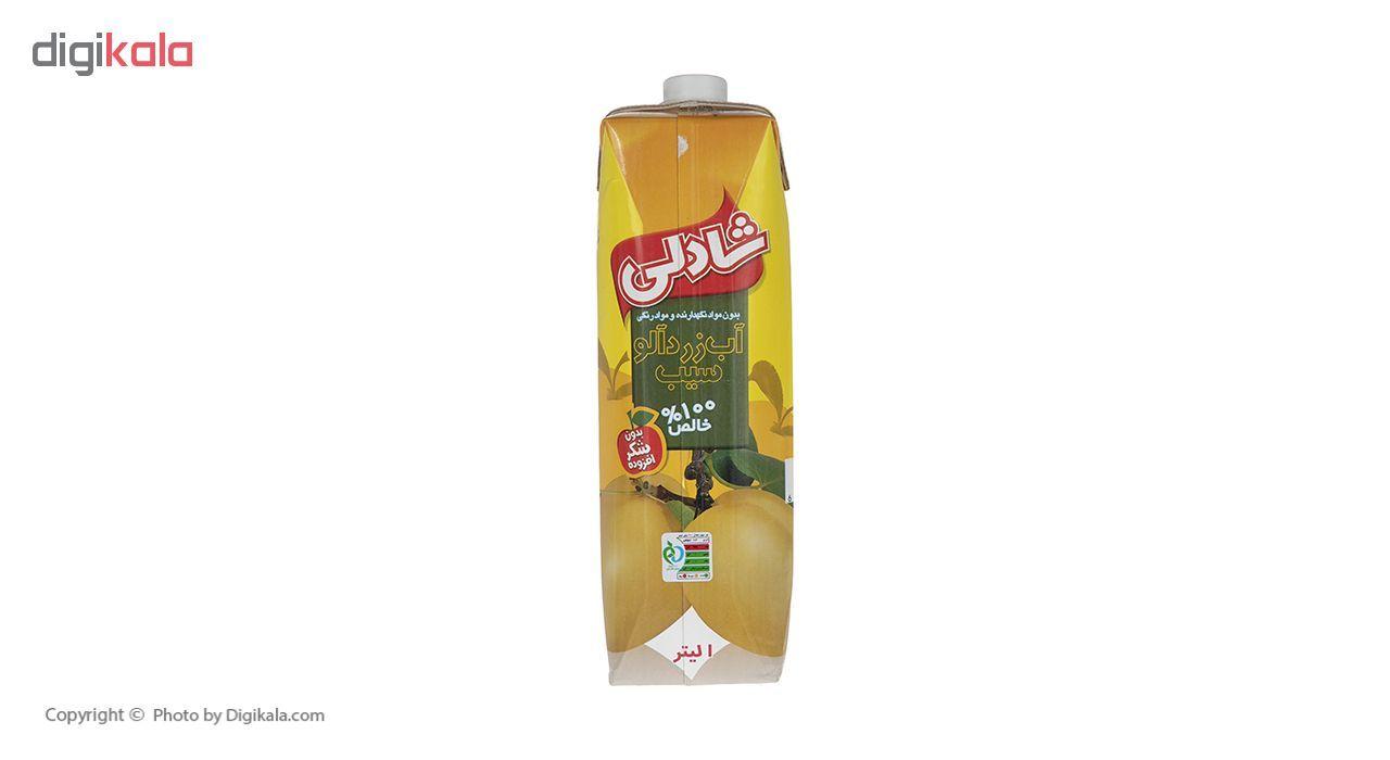 آب زردآلو سیب شادلی حجم 1 لیتر main 1 1