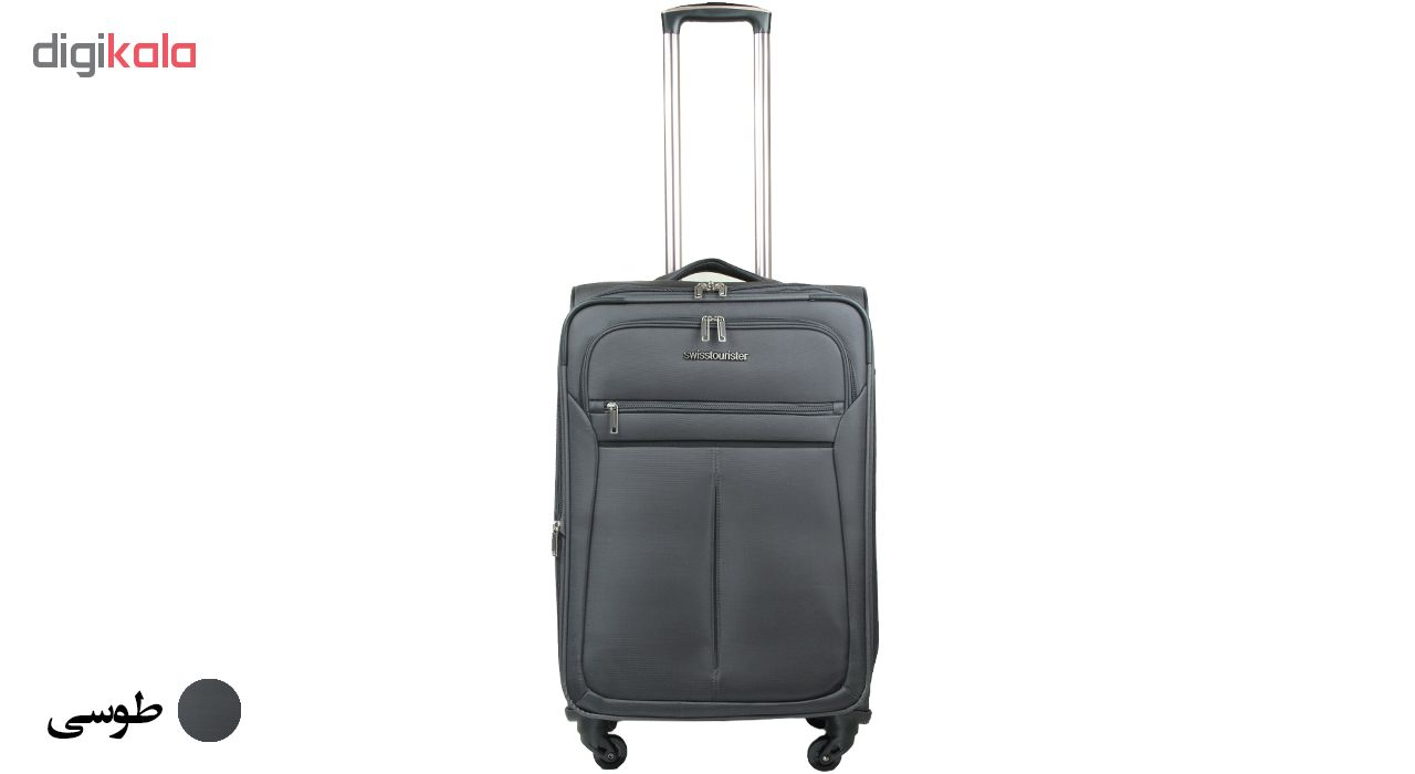 چمدان سوییس توریستر  مدل 019020 سایز متوسط