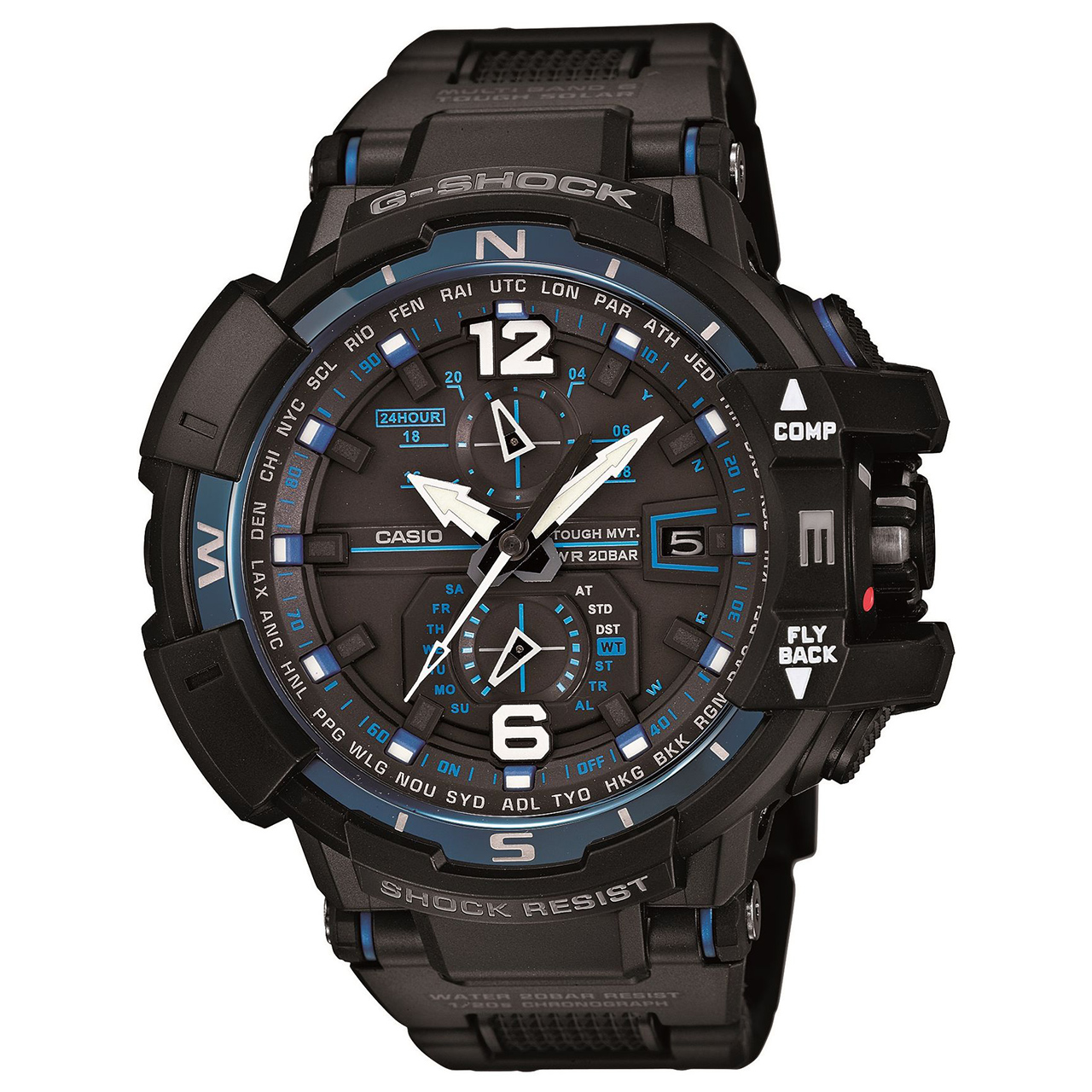 ساعت مچی عقربه ای مردانه کاسیو مدل GW-A1100FC-1ADR