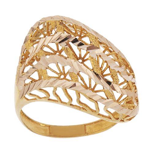 انگشتر طلا 18 عیار زنانه مدل AT1