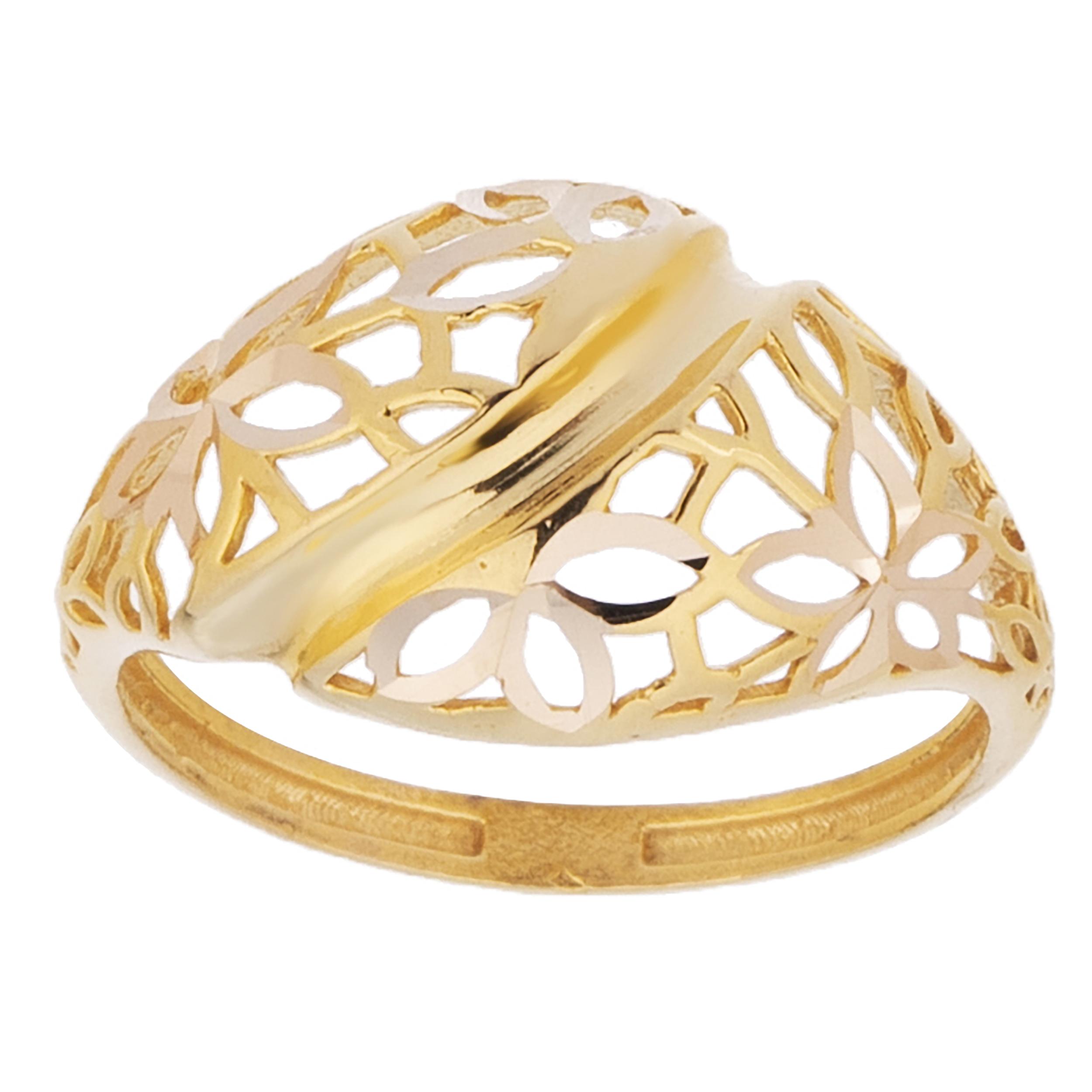قیمت انگشتر طلا 18 عیار زنانه مدل AT2