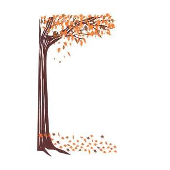 استیکر دیواری والتت طرح درخت پاییزی