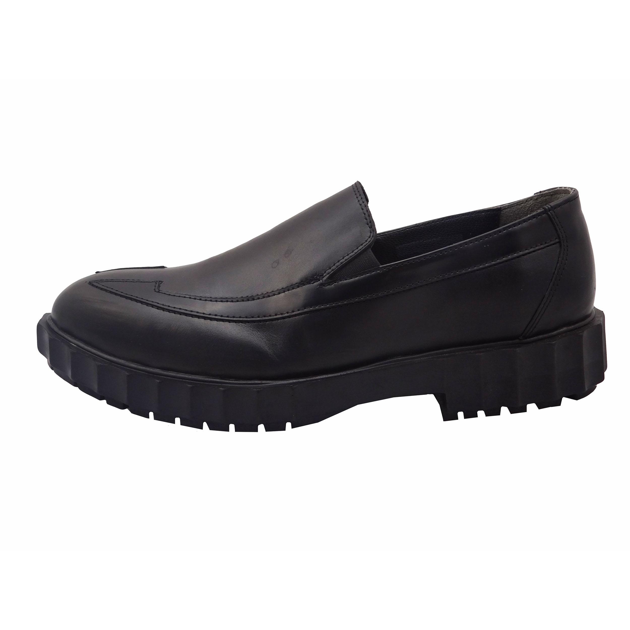 قیمت کفش چرمی مردانه مدل ساعتی کد B7