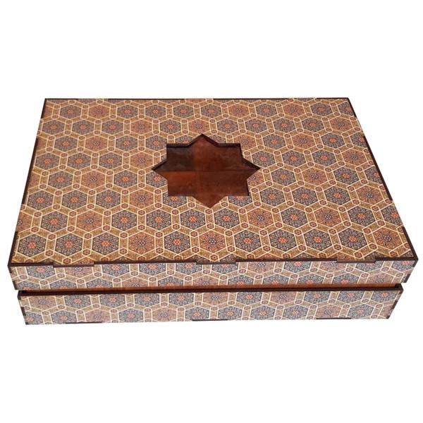جعبه رومیزی تی بگ و تنقلات و زیر لیوانی مدل کویر کد KJ48