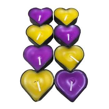 شمع وارمر طرح قلب کلاسیک کد irsa-600 بسته 10 عددی