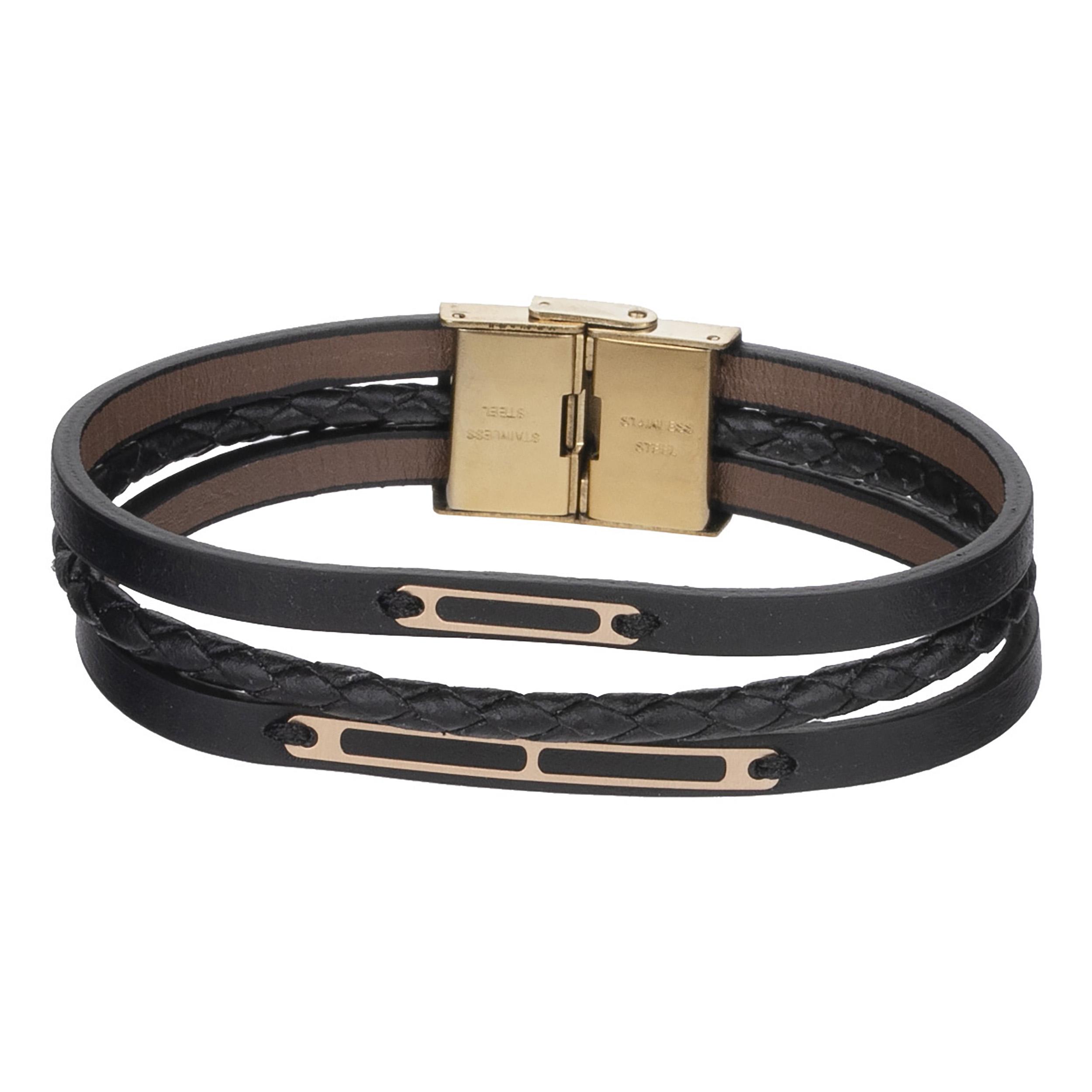 دستبند طلا 18 عیار مردانه مدیاگلد مدل MGL-D0286