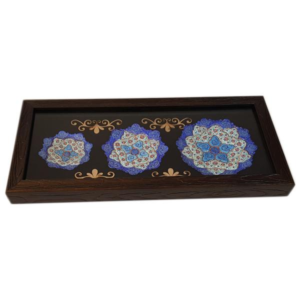 قاب سه بشقاب میناکاری شده اصفهان