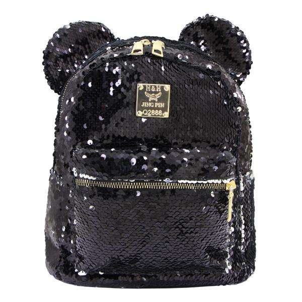 کوله پشتی دخترانه اچ اند اچ مدل Mickey Sequin B69 تک سایز