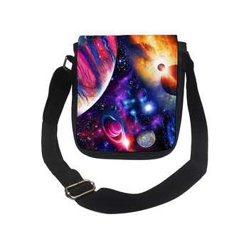 کیف رودوشی دخترانه طرح کهکشان کد k150 تک سایز