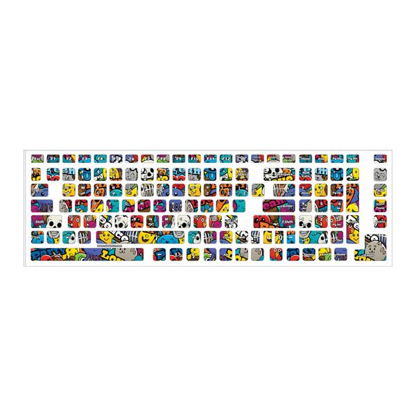 برچسب کیبورد حروف فارسی طرح گرافیتی کد 04