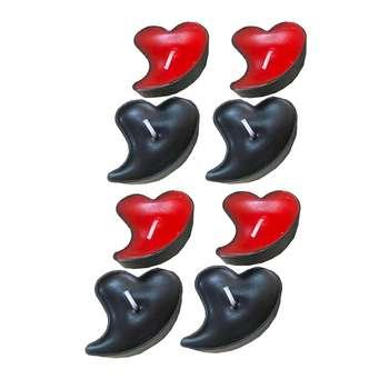 شمع وارمر طرح قلب مایل کد irsa-200 بسته 12 عددی