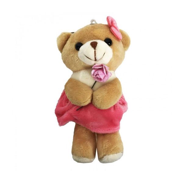 عروسک طرح خرس کد 4654 ارتفاع 12 سانتی متر