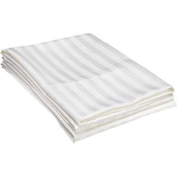 ملحفه ساده ژاکارد هتلی غزال مناسب برای تخت یک نفره
