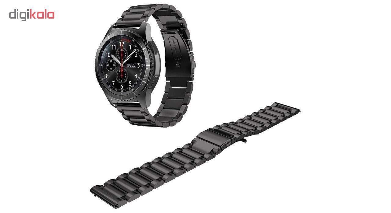 بند مدل Three Pointer به همراه کیف نگهداری ساعت مناسب برای ساعت های سامسونگ Gear S3 / Galaxy Watch 46mm main 1 2
