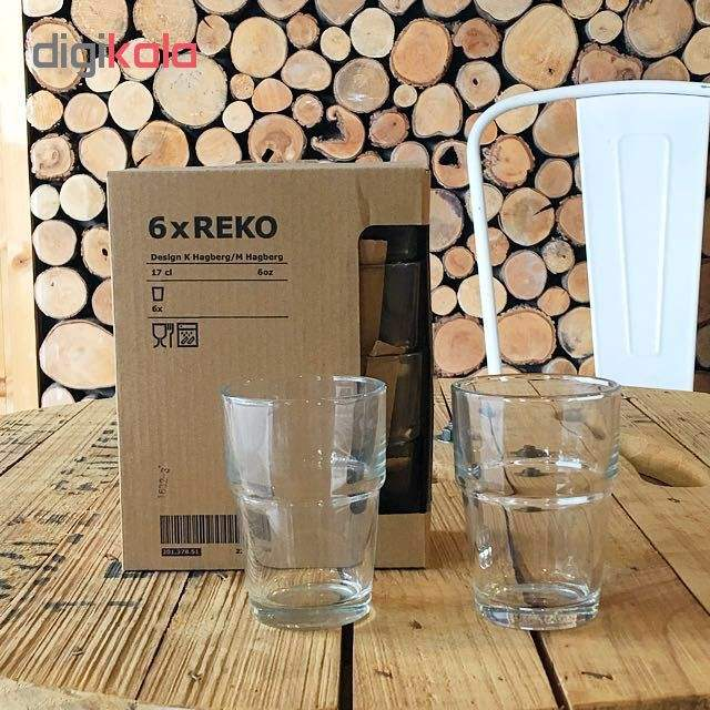 لیوان ایکیا مدل Reko بسته 6 عددی main 1 4
