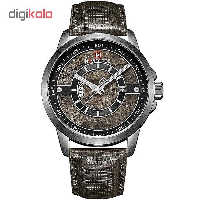 خرید ساعت مچی عقربه ای مردانه نیوی فورس مدل NF9151M / TO-ME به همراه دستمال مخصوص نانو برند کلیر واچ