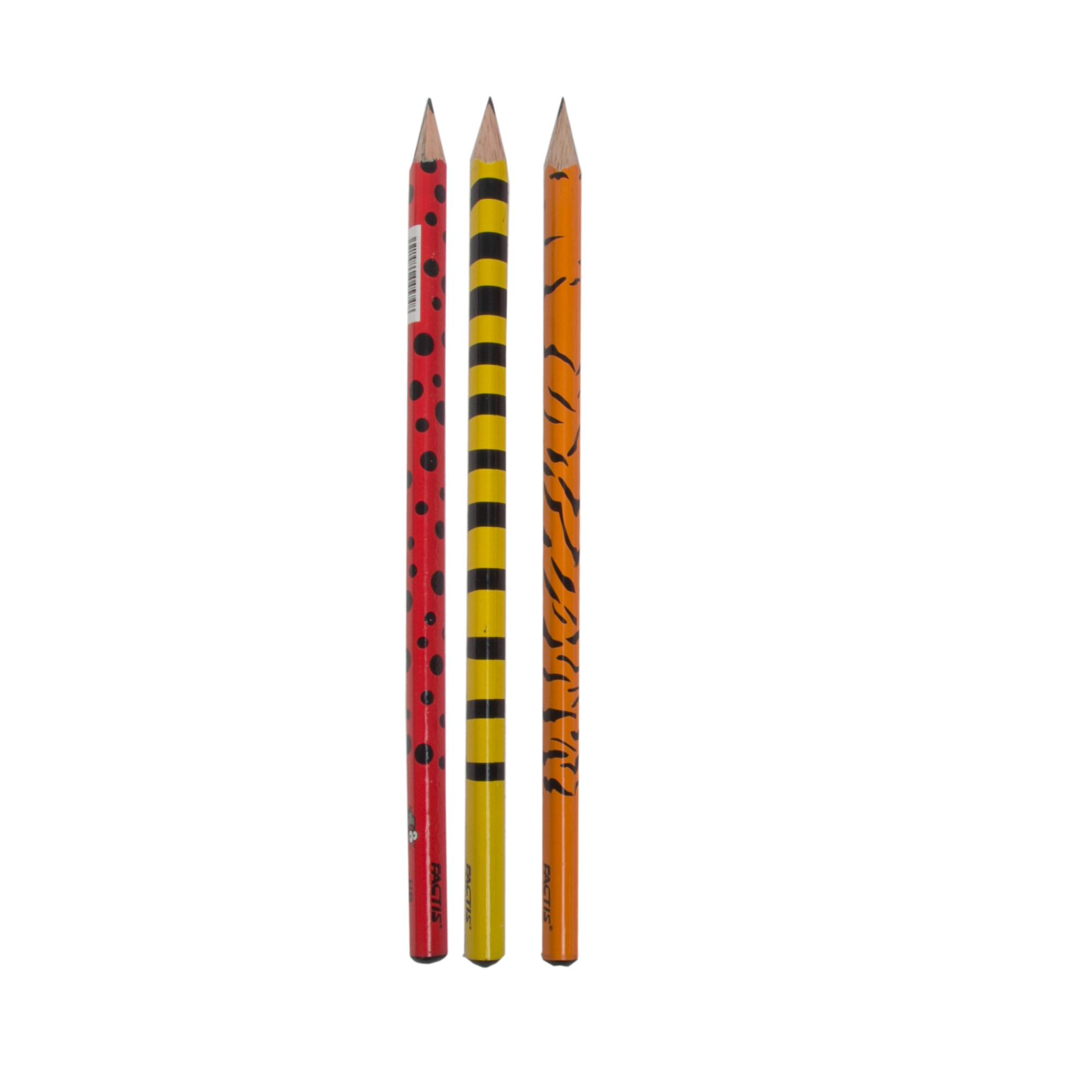 مداد مشکی فکتیس طرح حشرات بسته 3 عددی