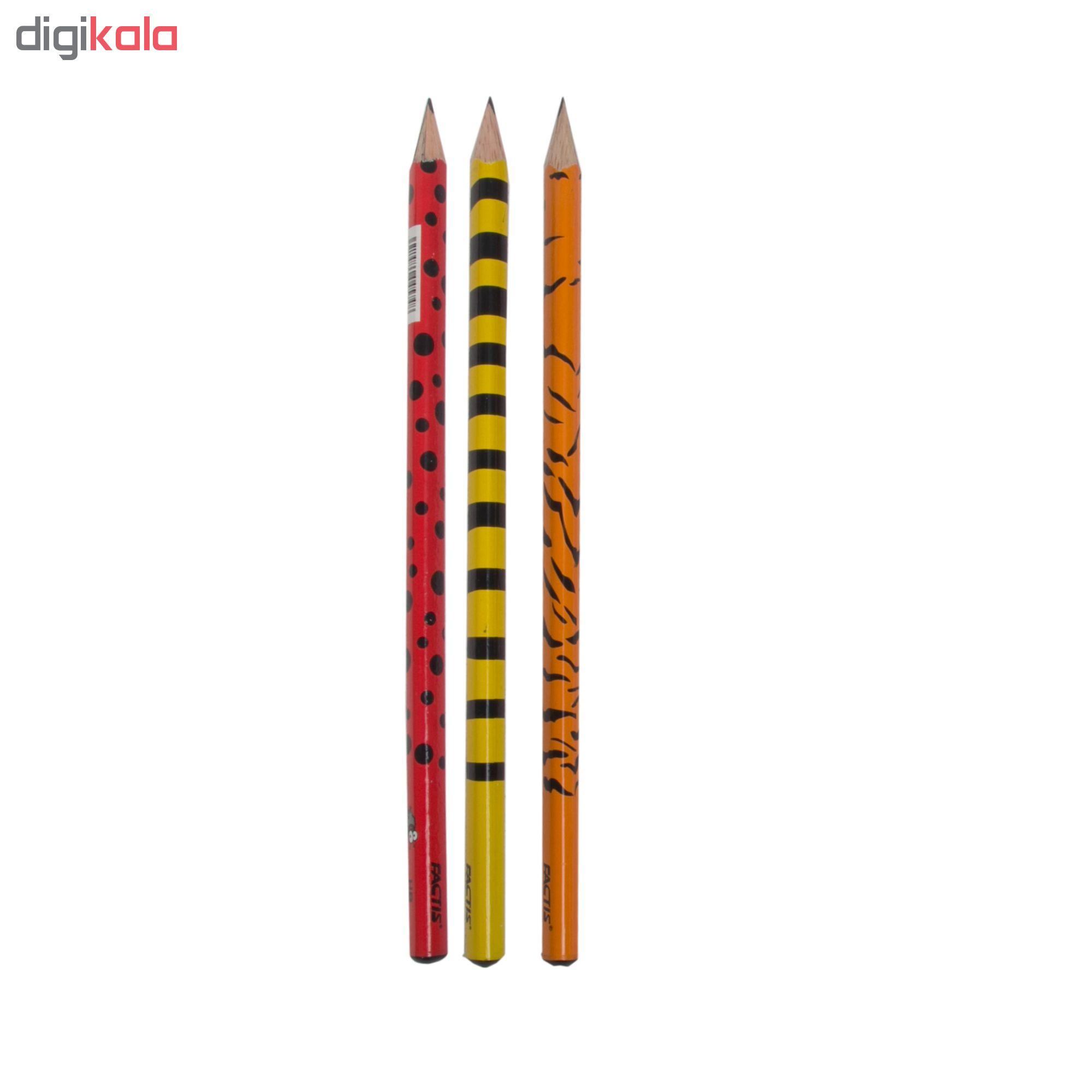 مداد مشکی فکتیس طرح حشرات بسته 3 عددی main 1 1