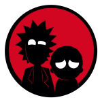 استیکر لپ تاپ طرح Rick & morty کد 01 thumb