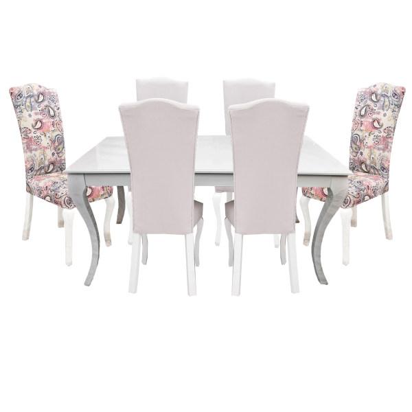 میز و صندلی ناهار خوری مدل رویال کد B009